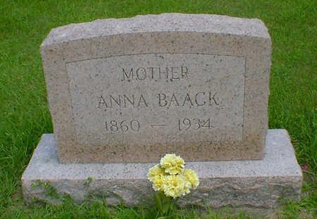 BAACK, ANNA - Hancock County, Iowa | ANNA BAACK