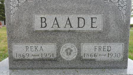 BAADE, FRED - Hancock County, Iowa | FRED BAADE