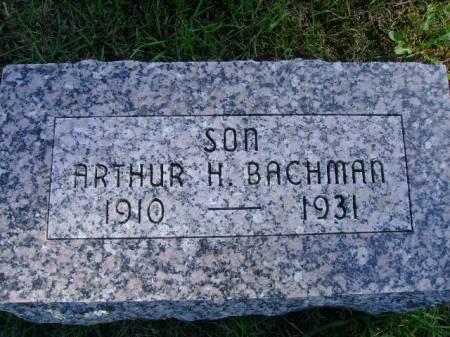 BACHMAN, ARTHUR H - Hancock County, Iowa   ARTHUR H BACHMAN