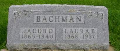 BACHMAN, JACOB D - Hancock County, Iowa | JACOB D BACHMAN