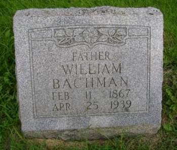 BACHMAN, WILLIAM - Hancock County, Iowa   WILLIAM BACHMAN