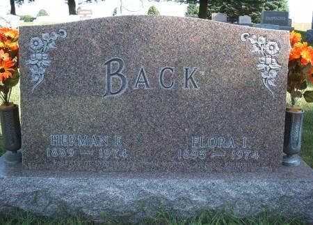 BACK, HERMAN E - Hancock County, Iowa | HERMAN E BACK