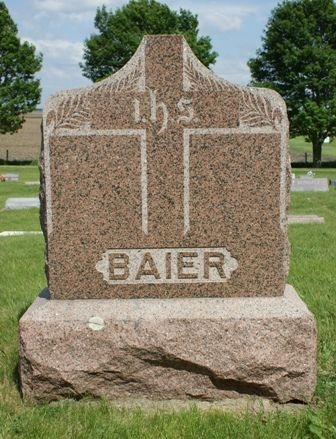 BAIER, FAMILY MONUMENT - Hancock County, Iowa | FAMILY MONUMENT BAIER