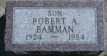 BAMMAN, ROBERT A - Hancock County, Iowa   ROBERT A BAMMAN