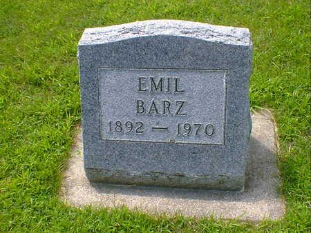 BARZ, EMIL - Hancock County, Iowa   EMIL BARZ