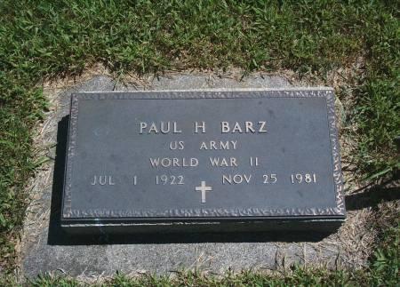 BARZ, PAUL H - Hancock County, Iowa | PAUL H BARZ
