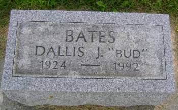 BATES, DALLIS J - Hancock County, Iowa   DALLIS J BATES