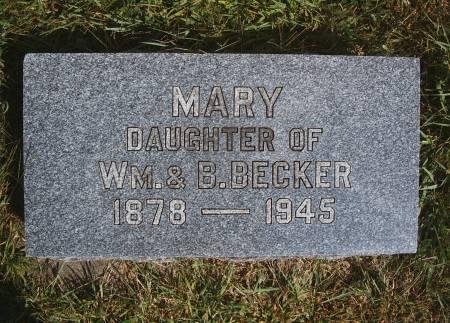 BECKER, MARY - Hancock County, Iowa | MARY BECKER