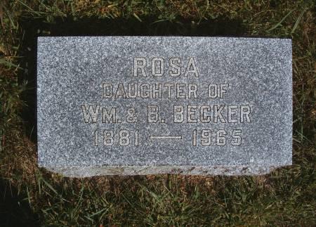 BECKER, ROSA - Hancock County, Iowa | ROSA BECKER