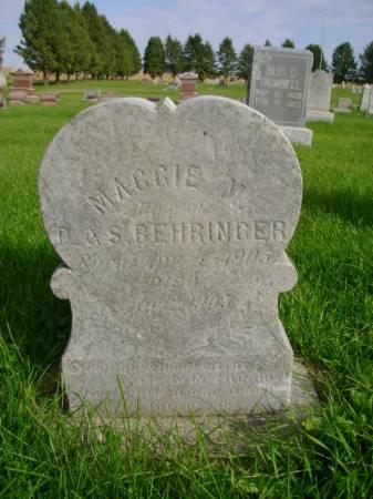 BEHRINGER, MAGGIE  M - Hancock County, Iowa | MAGGIE  M BEHRINGER