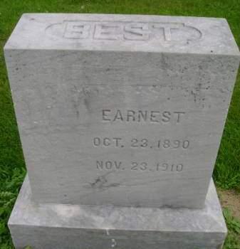 BEST, EARNEST - Hancock County, Iowa   EARNEST BEST