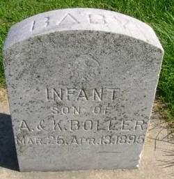 BOLLER, INFANT - Hancock County, Iowa | INFANT BOLLER