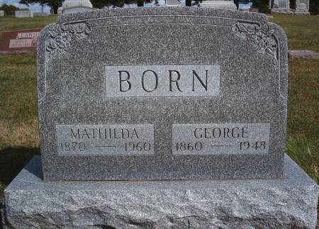 BORN, GEORGE - Hancock County, Iowa | GEORGE BORN