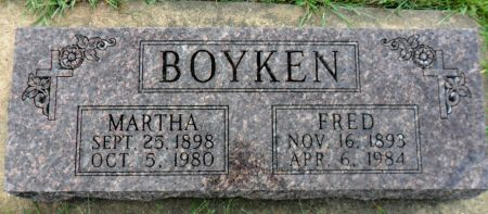 BOYKEN, MARTHA - Hancock County, Iowa | MARTHA BOYKEN
