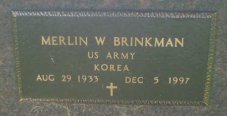 BRINKMAN, MERLIN W - Hancock County, Iowa   MERLIN W BRINKMAN