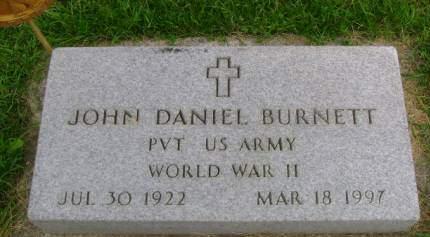 BURNETT, JOHN D - Hancock County, Iowa   JOHN D BURNETT