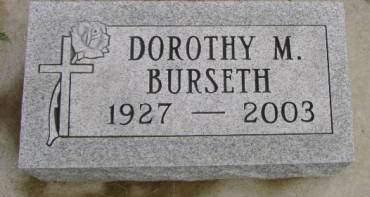 BURSETH, DOROTHY M - Hancock County, Iowa | DOROTHY M BURSETH