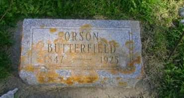 BUTTERFIELD, ORSON - Hancock County, Iowa   ORSON BUTTERFIELD