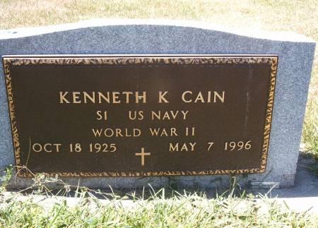 CAIN, KENNETH - Hancock County, Iowa | KENNETH CAIN