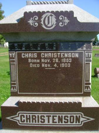CHRISTENSON, CHRIS - Hancock County, Iowa | CHRIS CHRISTENSON