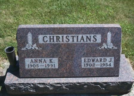 CHRISTIANS, ANNA K - Hancock County, Iowa | ANNA K CHRISTIANS