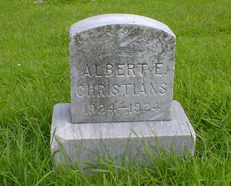 CHRISTIANS, ALBERT E - Hancock County, Iowa | ALBERT E CHRISTIANS