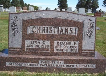 CHRISTIANS, DUANE E - Hancock County, Iowa | DUANE E CHRISTIANS