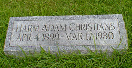 CHRISTIANS, HARM ADAM - Hancock County, Iowa | HARM ADAM CHRISTIANS