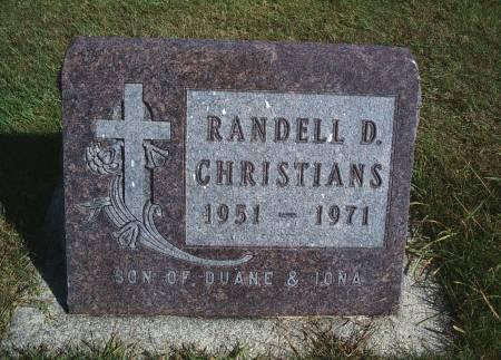 CHRISTIANS, RANDELL D - Hancock County, Iowa | RANDELL D CHRISTIANS