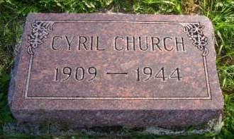 CHURCH, CYRIL - Hancock County, Iowa | CYRIL CHURCH