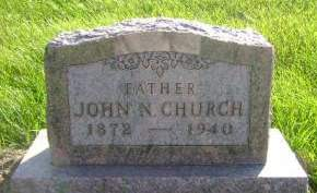 CHURCH, JOHN N - Hancock County, Iowa | JOHN N CHURCH