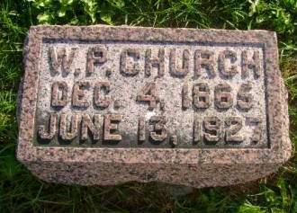 CHURCH, W P - Hancock County, Iowa   W P CHURCH