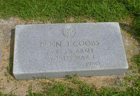 COOBS, BENN J - Hancock County, Iowa   BENN J COOBS