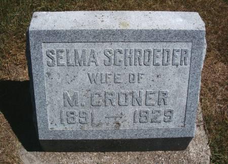 SCHROEDER CRONER, SELMA - Hancock County, Iowa | SELMA SCHROEDER CRONER