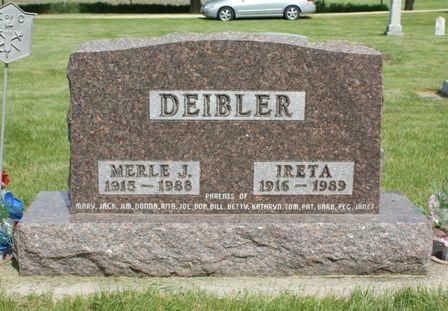 DEIBLER, IRETA - Hancock County, Iowa | IRETA DEIBLER