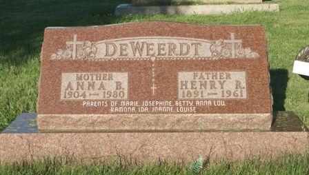 DEWEERDT, HENRY R - Hancock County, Iowa | HENRY R DEWEERDT