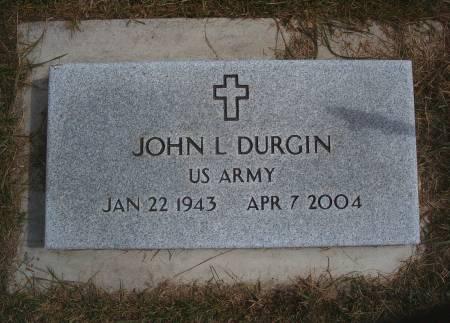 DURGIN, JOHN L - Hancock County, Iowa   JOHN L DURGIN