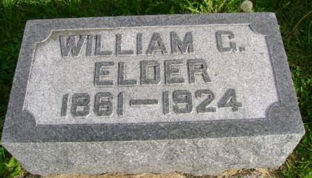 ELDER, WILLIAM G - Hancock County, Iowa   WILLIAM G ELDER
