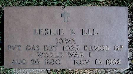 ELL, LESLIE E - Hancock County, Iowa | LESLIE E ELL