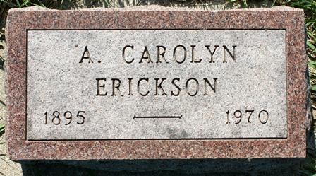 ERICKSON, A. CAROLYN - Hancock County, Iowa | A. CAROLYN ERICKSON