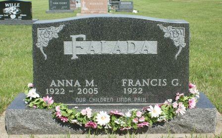 FALADA, ANNA M - Hancock County, Iowa   ANNA M FALADA