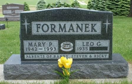 FORMANEK, MARY P. - Hancock County, Iowa | MARY P. FORMANEK