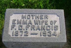 FRANCIS, EMMA - Hancock County, Iowa | EMMA FRANCIS