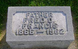 FRANCIS, FRED D - Hancock County, Iowa | FRED D FRANCIS