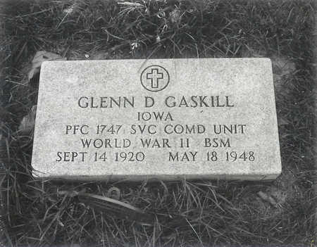GASKILL, GLENN D - Hancock County, Iowa   GLENN D GASKILL
