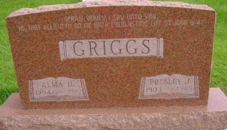 GRIGGS, ALMA H - Hancock County, Iowa | ALMA H GRIGGS