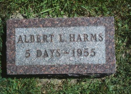 HARMS, ALBERT L - Hancock County, Iowa   ALBERT L HARMS