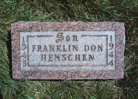 HENSCHEN, FRANKLIN D - Hancock County, Iowa | FRANKLIN D HENSCHEN