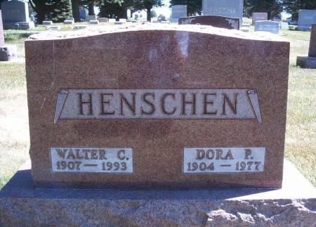 TSCHIRKI HENSCHEN, DORA P - Hancock County, Iowa   DORA P TSCHIRKI HENSCHEN