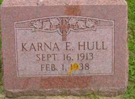 HULL, KARNA E - Hancock County, Iowa   KARNA E HULL
